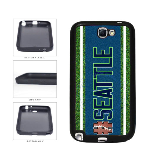 Hashtag Seattle #Seattle Football Team TPU Rubber SILICONE Phone Case Back Cover For Samsung Galaxy Note II 2 N7100 includes BleuReign(TM) Cloth and Warranty Label