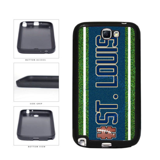 Hashtag St. Louis #StLouis Football Team TPU Rubber SILICONE Phone Case Back Cover For Samsung Galaxy Note II 2 N7100 includes BleuReign(TM) Cloth and Warranty Label