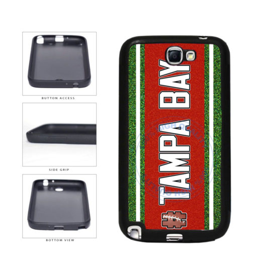 Hashtag Tampa Bay #TampaBay Football Team TPU Rubber SILICONE Phone Case Back Cover For Samsung Galaxy Note II 2 N7100 includes BleuReign(TM) Cloth and Warranty Label