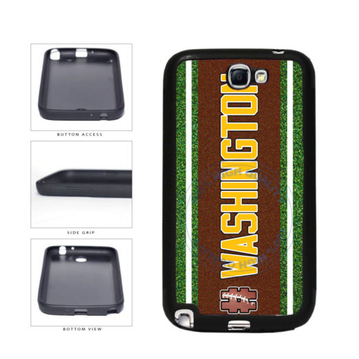 Hashtag Washington #Washington Football Team TPU Rubber SILICONE Phone Case Back Cover For Samsung Galaxy Note II 2 N7100 includes BleuReign(TM) Cloth and Warranty Label