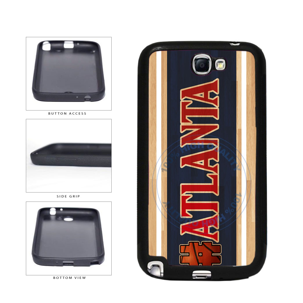 Basketball Team Hashtag Atlanta #Atlanta TPU Rubber SILICONE Phone Case Back Cover For Samsung Galaxy Note II 2 N7100 includes BleuReign(TM) Cloth and Warranty Label