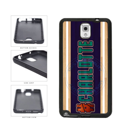 Basketball Team Hashtag Charlotte #Charlotte TPU Rubber SILICONE Phone Case Back Cover For Samsung Galaxy Note III 3 N9002 includes BleuReign(TM) Cloth and Warranty Label