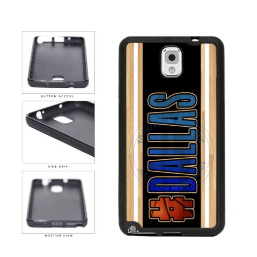 Basketball Team Hashtag Dallas #Dallas TPU Rubber SILICONE Phone Case Back Cover For Samsung Galaxy Note III 3 N9002 includes BleuReign(TM) Cloth and Warranty Label