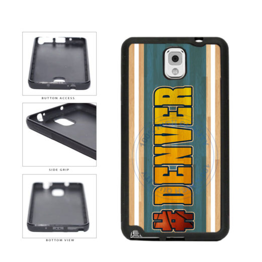 Basketball Team Hashtag Denver #Denver TPU Rubber SILICONE Phone Case Back Cover For Samsung Galaxy Note III 3 N9002 includes BleuReign(TM) Cloth and Warranty Label