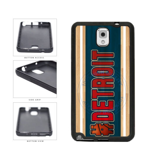 Basketball Team Hashtag Detroit #Detroit TPU Rubber SILICONE Phone Case Back Cover For Samsung Galaxy Note III 3 N9002 includes BleuReign(TM) Cloth and Warranty Label