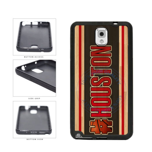 Basketball Team Hashtag Houston #Houston TPU Rubber SILICONE Phone Case Back Cover For Samsung Galaxy Note III 3 N9002 includes BleuReign(TM) Cloth and Warranty Label