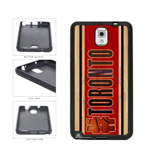 Basketball Team Hashtag Toronto #Toronto TPU Rubber SILICONE Phone Case Back Cover For Samsung Galaxy Note III 3 N9002 includes BleuReign(TM) Cloth and Warranty Label