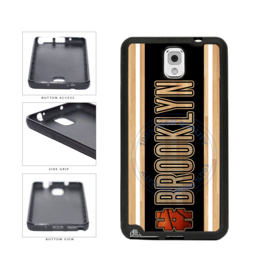 Basketball Team Hashtag Brooklyn #Brooklyn TPU Rubber SILICONE Phone Case Back Cover For Samsung Galaxy Note III 3 N9002 includes BleuReign(TM) Cloth and Warranty Label