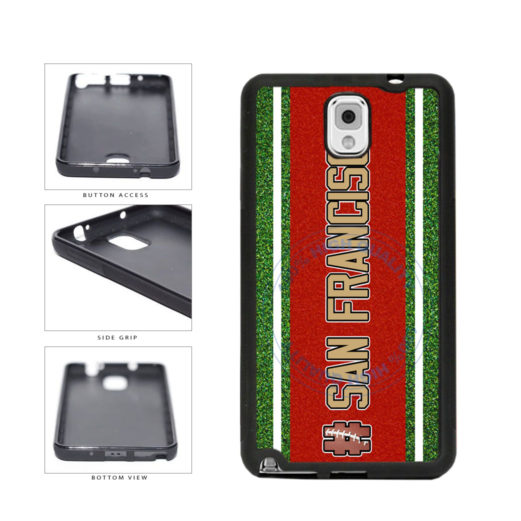 Hashtag San Francisco #SanFrancisco Football Team TPU Rubber SILICONE Phone Case Back Cover For Samsung Galaxy Note III 3 N9002 includes BleuReign(TM) Cloth and Warranty Label