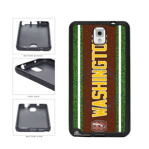 Hashtag Washington #Washington Football Team TPU Rubber SILICONE Phone Case Back Cover For Samsung Galaxy Note III 3 N9002 includes BleuReign(TM) Cloth and Warranty Label