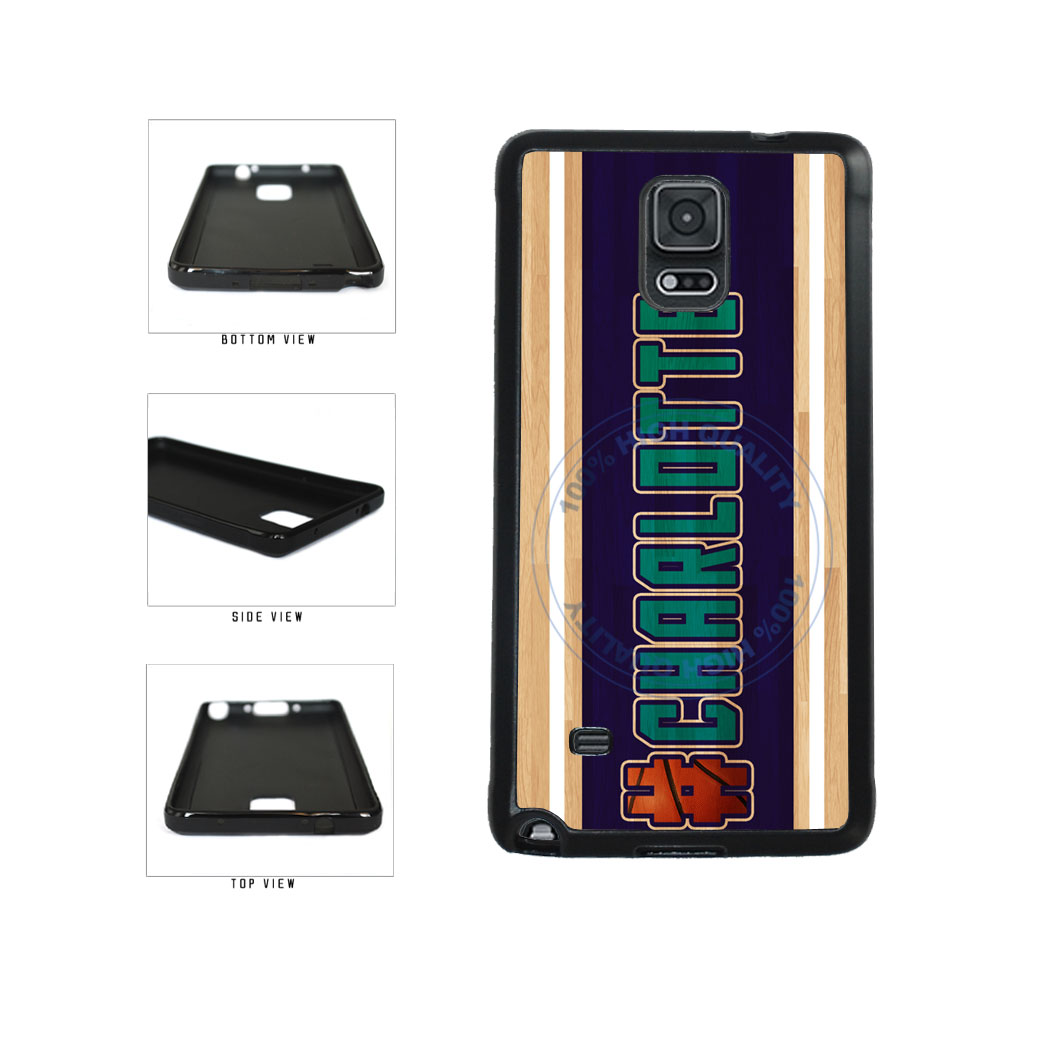 Basketball Team Hashtag Charlotte #Charlotte TPU Rubber SILICONE Phone Case Back Cover For Samsung Galaxy Note IV 4 N910 includes BleuReign(TM) Cloth and Warranty Label