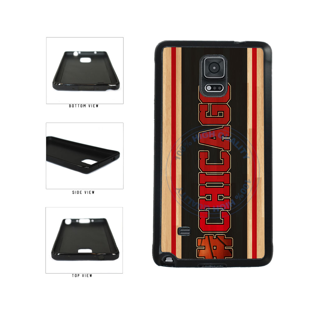 Basketball Team Hashtag Chicago #Chicago TPU Rubber SILICONE Phone Case Back Cover For Samsung Galaxy Note IV 4 N910 includes BleuReign(TM) Cloth and Warranty Label