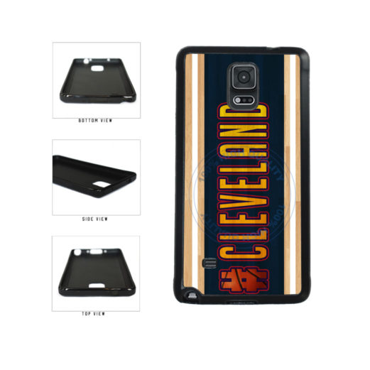 Basketball Team Hashtag Cleveland #Cleveland TPU Rubber SILICONE Phone Case Back Cover For Samsung Galaxy Note IV 4 N910 includes BleuReign(TM) Cloth and Warranty Label