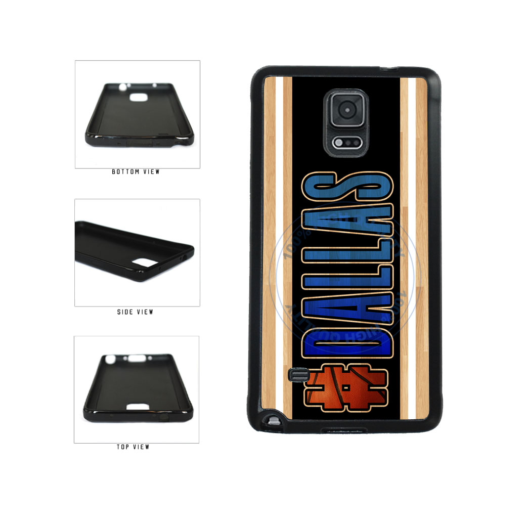 Basketball Team Hashtag Dallas #Dallas TPU Rubber SILICONE Phone Case Back Cover For Samsung Galaxy Note IV 4 N910 includes BleuReign(TM) Cloth and Warranty Label
