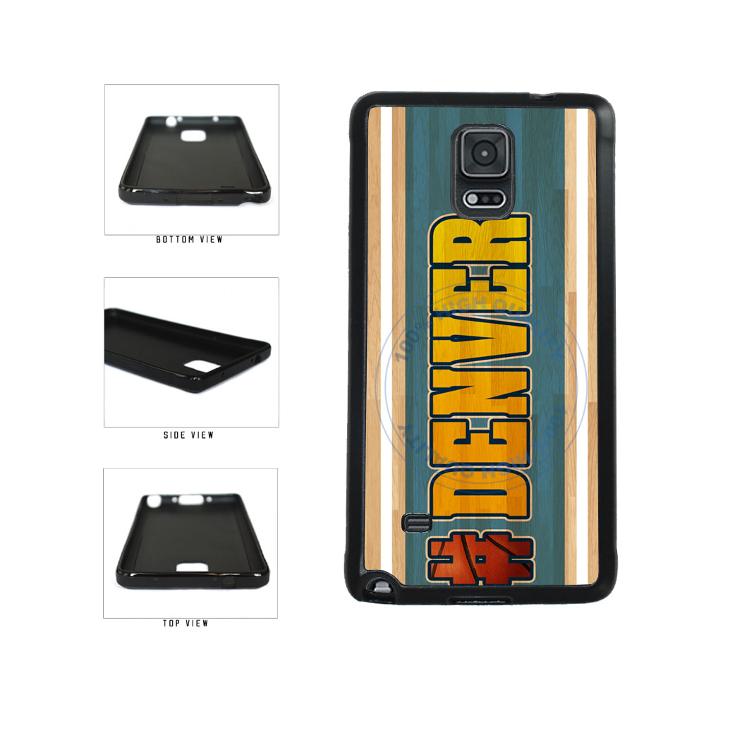 Basketball Team Hashtag Denver #Denver TPU Rubber SILICONE Phone Case Back Cover For Samsung Galaxy Note IV 4 N910 includes BleuReign(TM) Cloth and Warranty Label