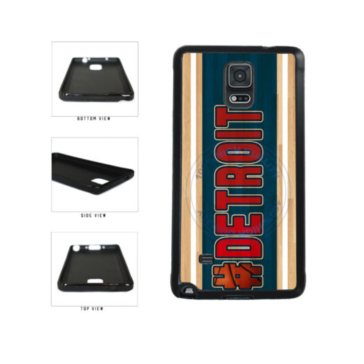 Basketball Team Hashtag Detroit #Detroit TPU Rubber SILICONE Phone Case Back Cover For Samsung Galaxy Note IV 4 N910 includes BleuReign(TM) Cloth and Warranty Label