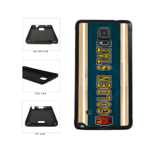 Basketball Team Hashtag Golden State #GoldenState TPU Rubber SILICONE Phone Case Back Cover For Samsung Galaxy Note IV 4 N910 includes BleuReign(TM) Cloth and Warranty Label