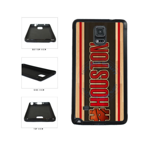 Basketball Team Hashtag Houston #Houston TPU Rubber SILICONE Phone Case Back Cover For Samsung Galaxy Note IV 4 N910 includes BleuReign(TM) Cloth and Warranty Label