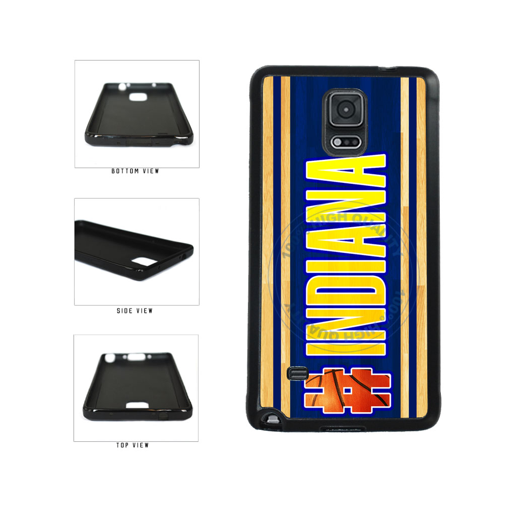 Basketball Team Hashtag Indiana #Indiana TPU Rubber SILICONE Phone Case Back Cover For Samsung Galaxy Note IV 4 N910 includes BleuReign(TM) Cloth and Warranty Label