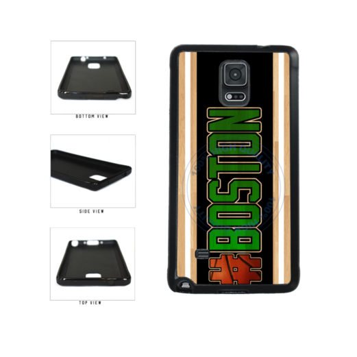 Basketball Team Hashtag Boston #Boston TPU Rubber SILICONE Phone Case Back Cover For Samsung Galaxy Note IV 4 N910 includes BleuReign(TM) Cloth and Warranty Label