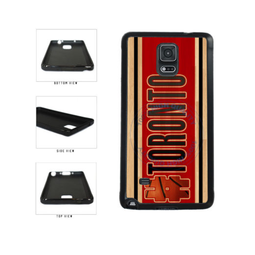 Basketball Team Hashtag Toronto #Toronto TPU Rubber SILICONE Phone Case Back Cover For Samsung Galaxy Note IV 4 N910 includes BleuReign(TM) Cloth and Warranty Label