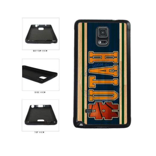 Basketball Team Hashtag Utah #Utah TPU Rubber SILICONE Phone Case Back Cover For Samsung Galaxy Note IV 4 N910 includes BleuReign(TM) Cloth and Warranty Label