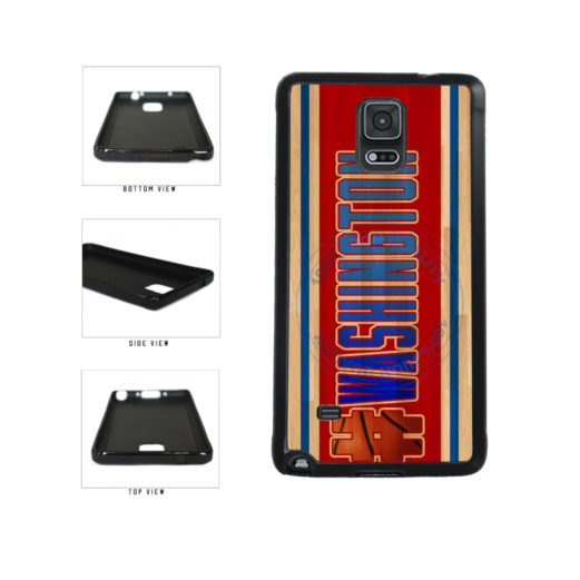 Basketball Team Hashtag Washington #Washington TPU Rubber SILICONE Phone Case Back Cover For Samsung Galaxy Note IV 4 N910 includes BleuReign(TM) Cloth and Warranty Label