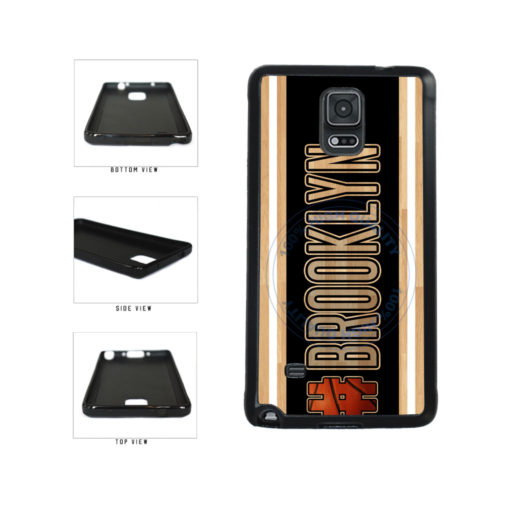 Basketball Team Hashtag Brooklyn #Brooklyn TPU Rubber SILICONE Phone Case Back Cover For Samsung Galaxy Note IV 4 N910 includes BleuReign(TM) Cloth and Warranty Label