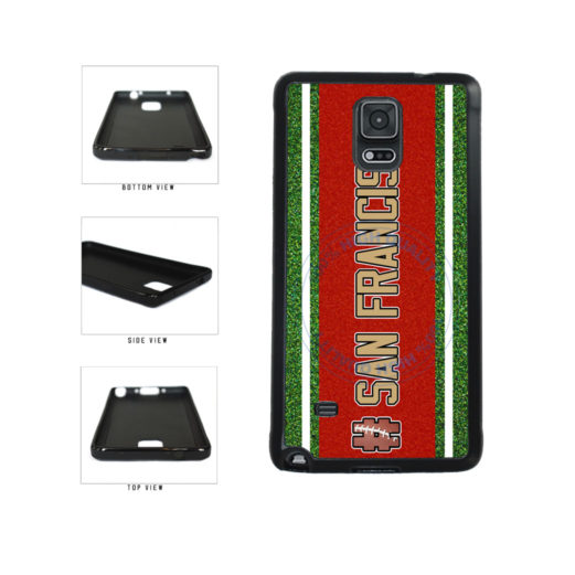 Hashtag San Francisco #SanFrancisco Football Team TPU Rubber SILICONE Phone Case Back Cover For Samsung Galaxy Note IV 4 N910 includes BleuReign(TM) Cloth and Warranty Label