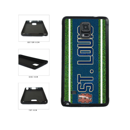 Hashtag St. Louis #StLouis Football Team TPU Rubber SILICONE Phone Case Back Cover For Samsung Galaxy Note IV 4 N910 includes BleuReign(TM) Cloth and Warranty Label