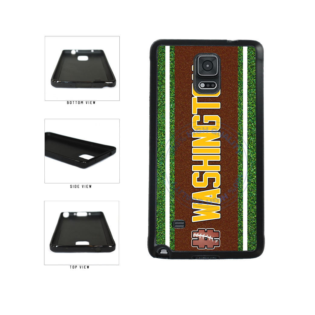 Hashtag Washington #Washington Football Team TPU Rubber SILICONE Phone Case Back Cover For Samsung Galaxy Note IV 4 N910 includes BleuReign(TM) Cloth and Warranty Label