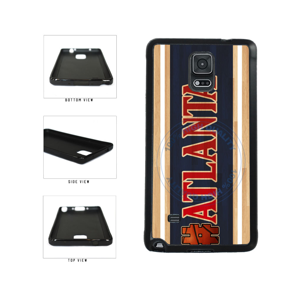 Basketball Team Hashtag Atlanta #Atlanta TPU Rubber SILICONE Phone Case Back Cover For Samsung Galaxy Note IV 4 N910 includes BleuReign(TM) Cloth and Warranty Label