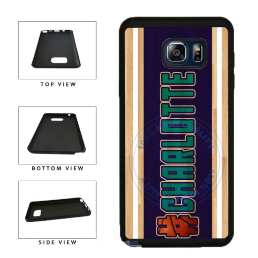 Basketball Team Hashtag Charlotte #Charlotte TPU RUBBER SILICONE Phone Case Back Cover For Samsung Galaxy Note V 5 N920 includes BleuReign(TM) Cloth and Warranty Label