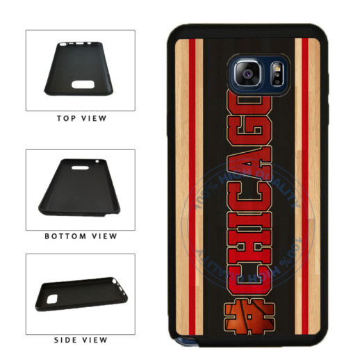 Basketball Team Hashtag Chicago #Chicago TPU RUBBER SILICONE Phone Case Back Cover For Samsung Galaxy Note V 5 N920 includes BleuReign(TM) Cloth and Warranty Label
