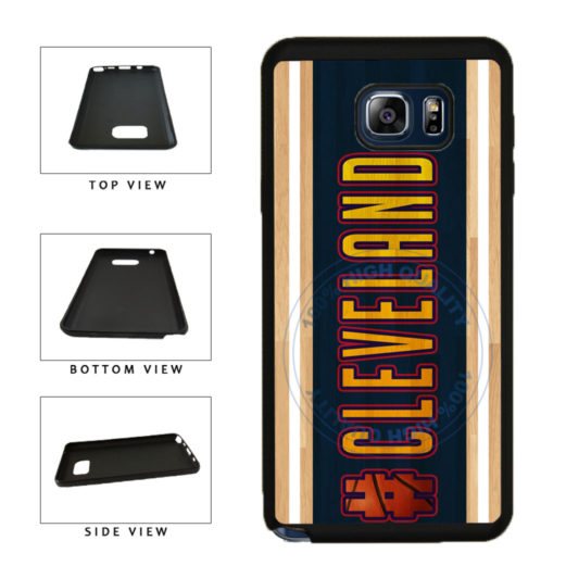 Basketball Team Hashtag Cleveland #Cleveland TPU RUBBER SILICONE Phone Case Back Cover For Samsung Galaxy Note V 5 N920 includes BleuReign(TM) Cloth and Warranty Label