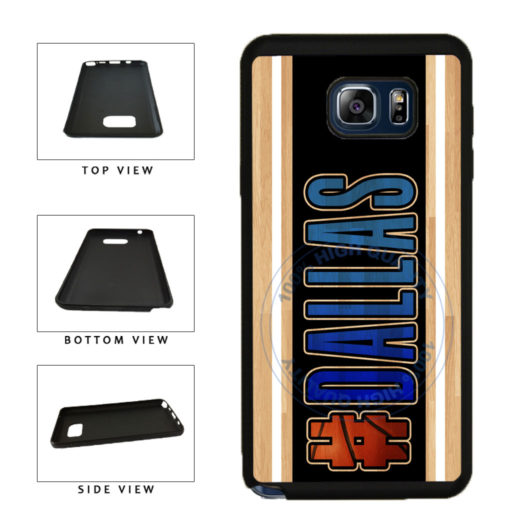 Basketball Team Hashtag Dallas #Dallas TPU RUBBER SILICONE Phone Case Back Cover For Samsung Galaxy Note V 5 N920 includes BleuReign(TM) Cloth and Warranty Label