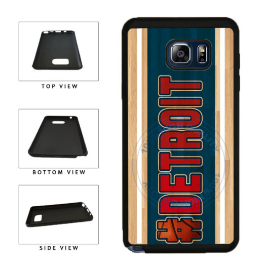 Basketball Team Hashtag Detroit #Detroit TPU RUBBER SILICONE Phone Case Back Cover For Samsung Galaxy Note V 5 N920 includes BleuReign(TM) Cloth and Warranty Label