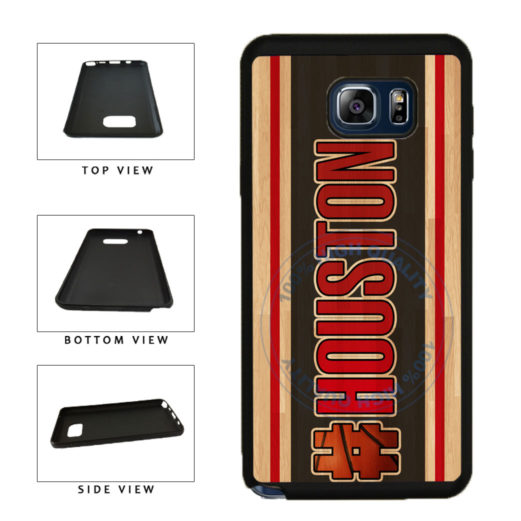 Basketball Team Hashtag Houston #Houston TPU RUBBER SILICONE Phone Case Back Cover For Samsung Galaxy Note V 5 N920 includes BleuReign(TM) Cloth and Warranty Label
