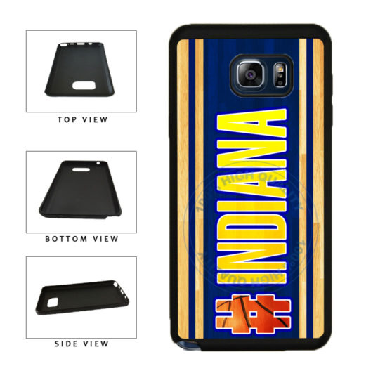 Basketball Team Hashtag Indiana #Indiana TPU RUBBER SILICONE Phone Case Back Cover For Samsung Galaxy Note V 5 N920 includes BleuReign(TM) Cloth and Warranty Label