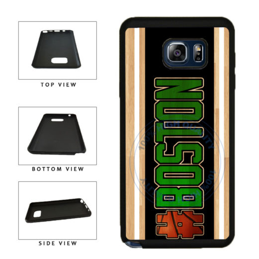 Basketball Team Hashtag Boston #Boston TPU RUBBER SILICONE Phone Case Back Cover For Samsung Galaxy Note V 5 N920 includes BleuReign(TM) Cloth and Warranty Label