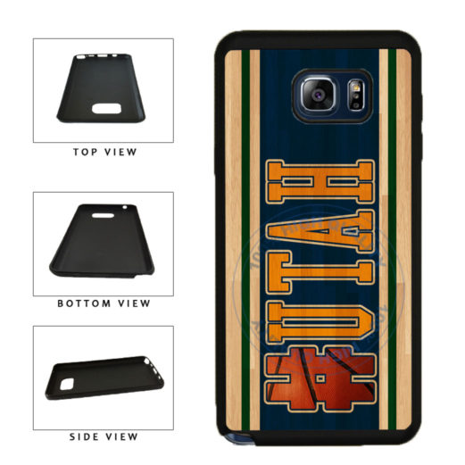 Basketball Team Hashtag Utah #Utah TPU RUBBER SILICONE Phone Case Back Cover For Samsung Galaxy Note V 5 N920 includes BleuReign(TM) Cloth and Warranty Label