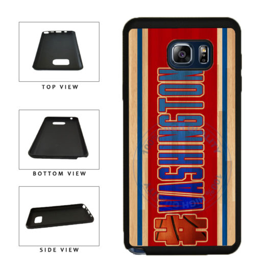 Basketball Team Hashtag Washington #Washington TPU RUBBER SILICONE Phone Case Back Cover For Samsung Galaxy Note V 5 N920 includes BleuReign(TM) Cloth and Warranty Label