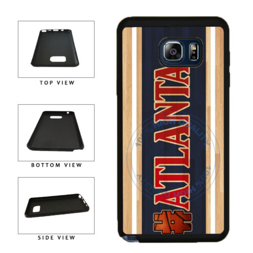 Basketball Team Hashtag Atlanta #Atlanta TPU RUBBER SILICONE Phone Case Back Cover For Samsung Galaxy Note V 5 N920 includes BleuReign(TM) Cloth and Warranty Label