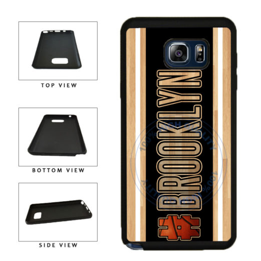 Basketball Team Hashtag Brooklyn #Brooklyn TPU RUBBER SILICONE Phone Case Back Cover For Samsung Galaxy Note V 5 N920 includes BleuReign(TM) Cloth and Warranty Label