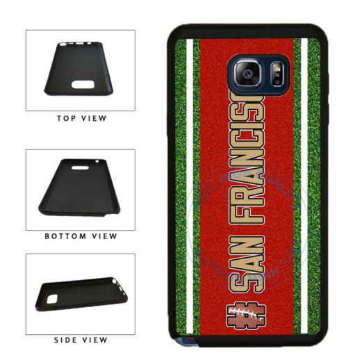 Hashtag San Francisco #SanFrancisco Football Team TPU RUBBER SILICONE Phone Case Back Cover For Samsung Galaxy Note V 5 N920 includes BleuReign(TM) Cloth and Warranty Label