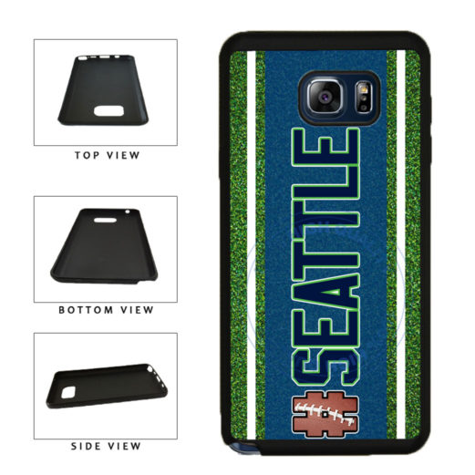 Hashtag Seattle #Seattle Football Team TPU RUBBER SILICONE Phone Case Back Cover For Samsung Galaxy Note V 5 N920 includes BleuReign(TM) Cloth and Warranty Label