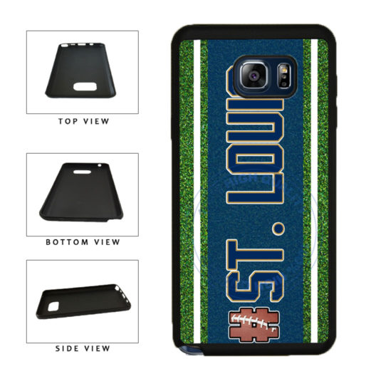 Hashtag St. Louis #StLouis Football Team TPU RUBBER SILICONE Phone Case Back Cover For Samsung Galaxy Note V 5 N920 includes BleuReign(TM) Cloth and Warranty Label