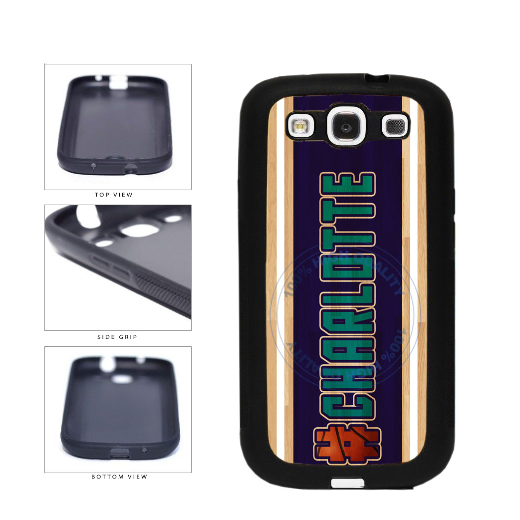 Basketball Team Hashtag Charlotte #Charlotte TPU Rubber SILICONE Phone Case Back Cover For Samsung Galaxy S3 I9300 includes BleuReign(TM) Cloth and Warranty Label