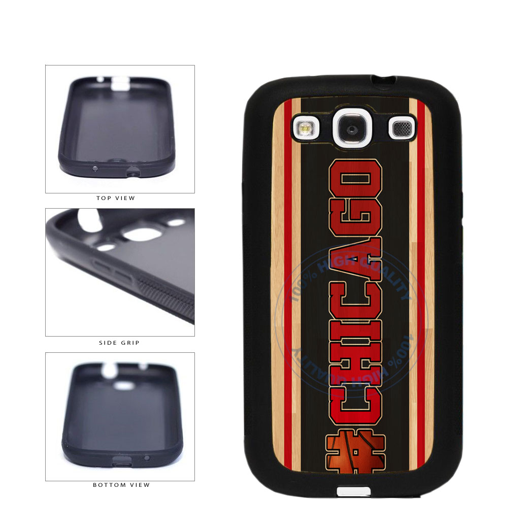 Basketball Team Hashtag Chicago #Chicago TPU Rubber SILICONE Phone Case Back Cover For Samsung Galaxy S3 I9300 includes BleuReign(TM) Cloth and Warranty Label