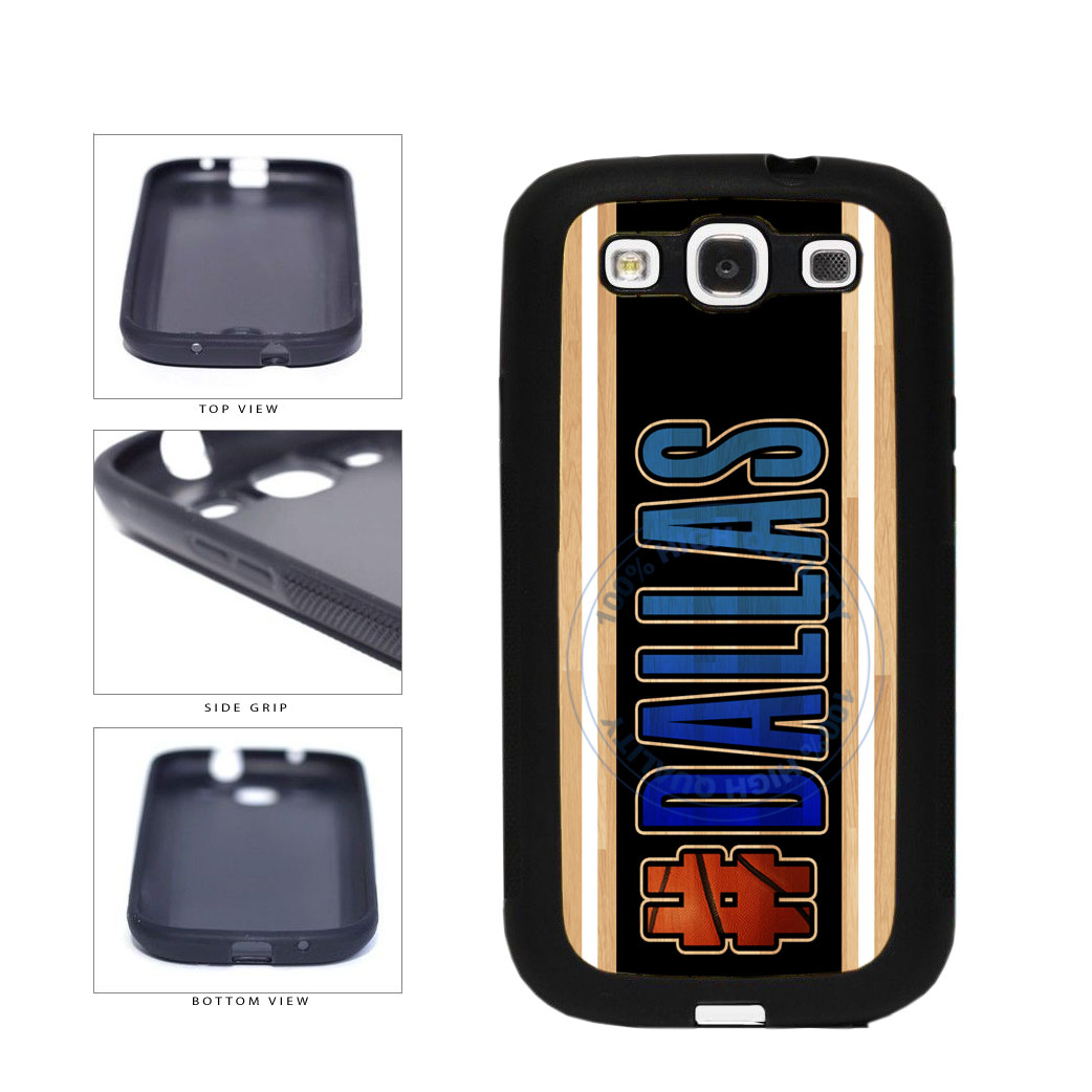 Basketball Team Hashtag Dallas #Dallas TPU Rubber SILICONE Phone Case Back Cover For Samsung Galaxy S3 I9300 includes BleuReign(TM) Cloth and Warranty Label